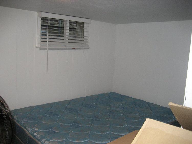 The basement bedroom before updates