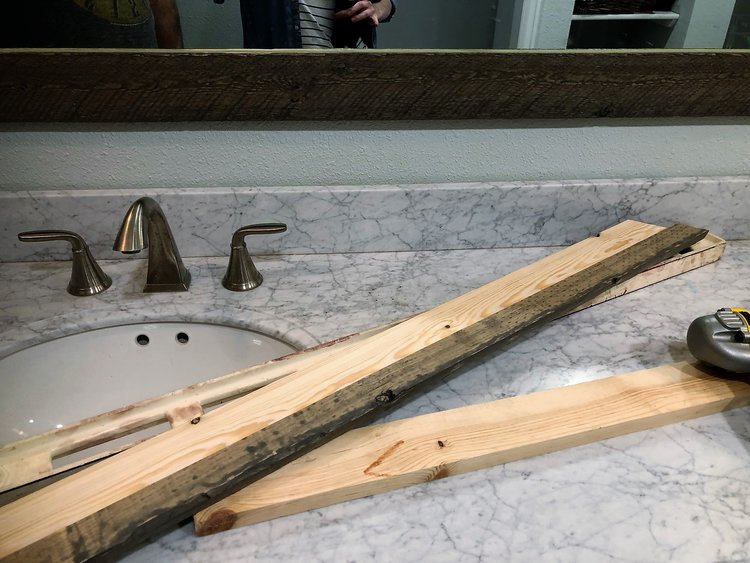 DIY mirror frame