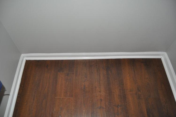 New utility room floor