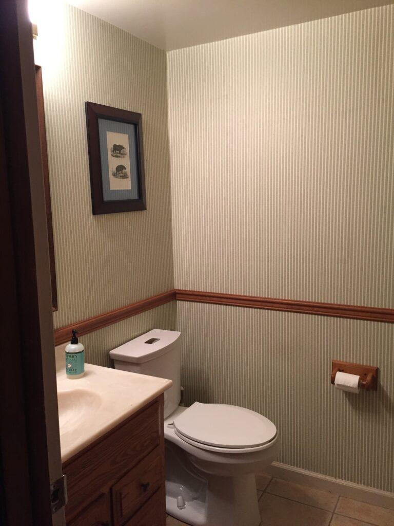 Half bathroom challenge before renovations