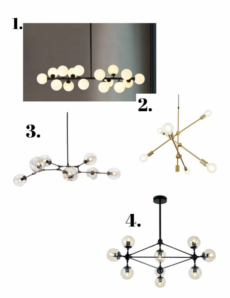 Dining room light options