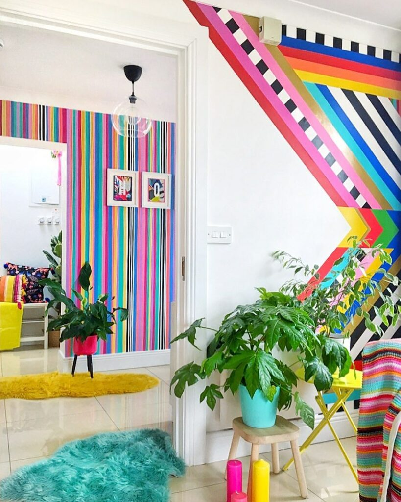 Bold color on the walls