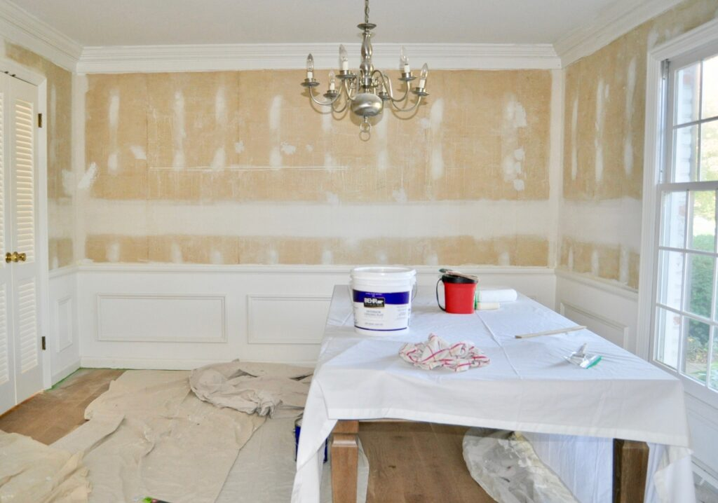Prep your walls to paint