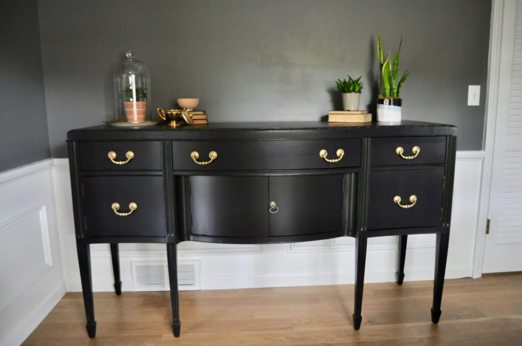 Thrifting and refinishing the dining room buffet