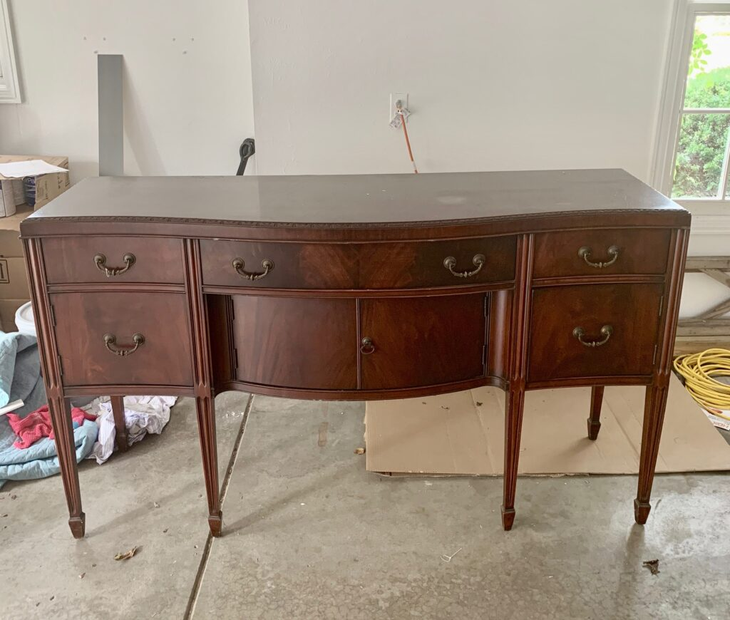 Thrifting and refinishing the buffet