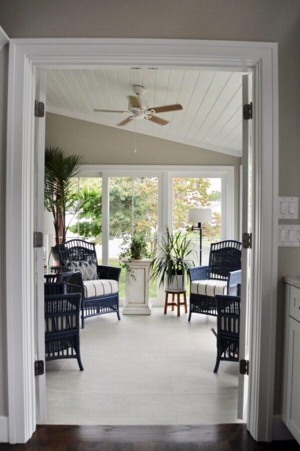 Year-round porch with vaulted ceilings