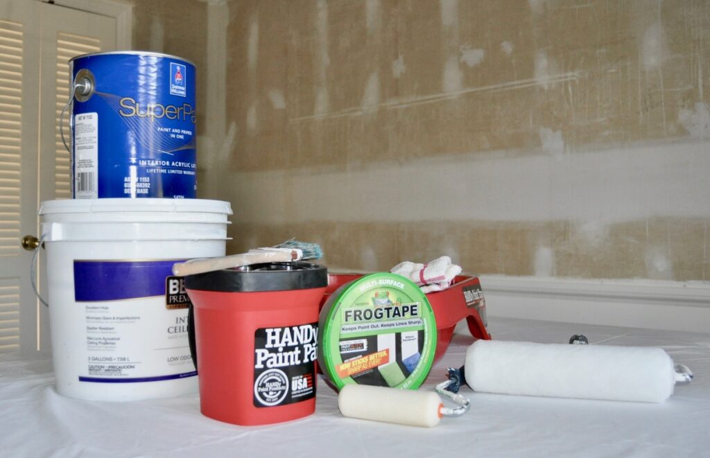 Materials to paint your room