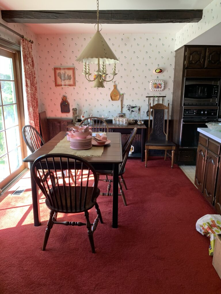 Old kitchen table area