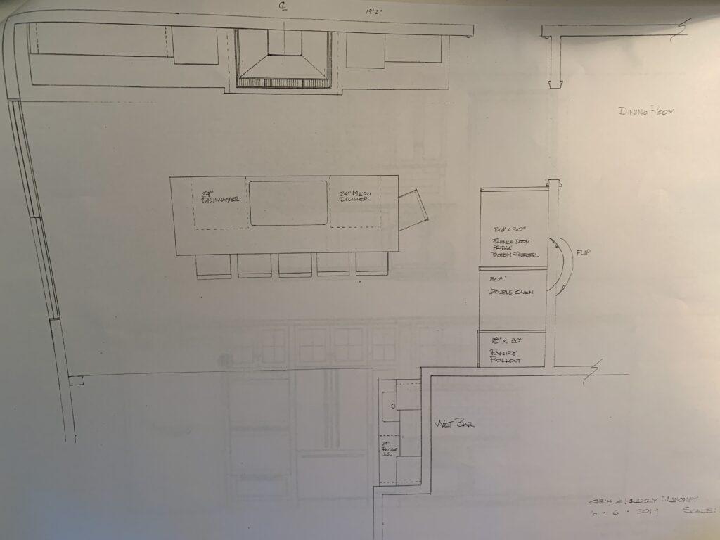 Kitchen design for Building Bluebird