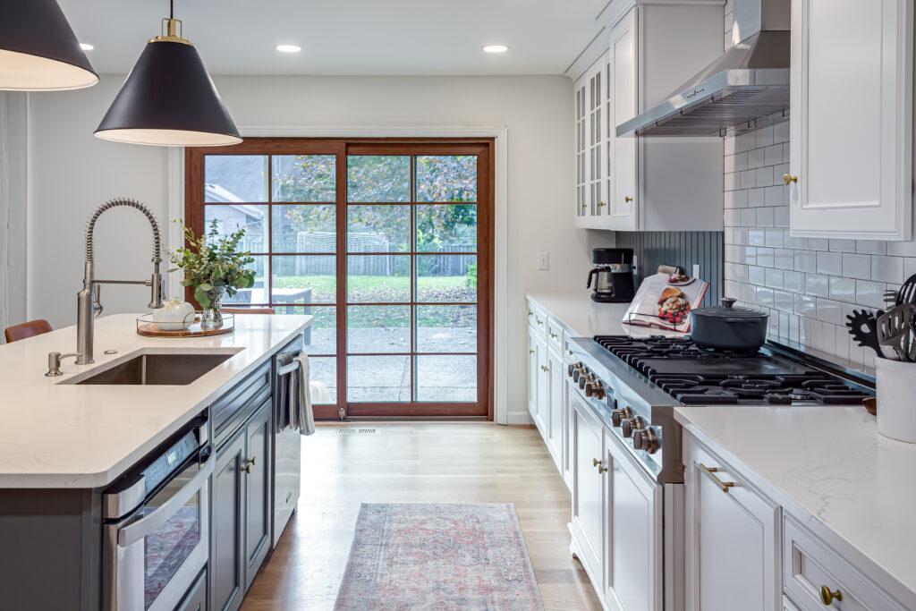 Newly transformed kitchen
