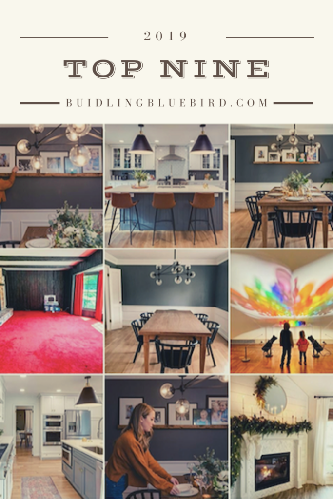 Top Nine most liked Instagram posts with my home renovation account | Building Bluebird #homerenovation #diyblogger #instagramtopnine