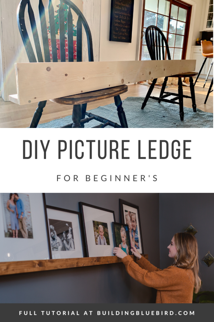 DIY picture ledge with step by step tutorial | Building Bluebird #artledge #diy #statementdesign #pictureledge #diy