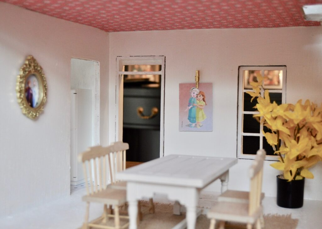 Renovated dollhouse dining room