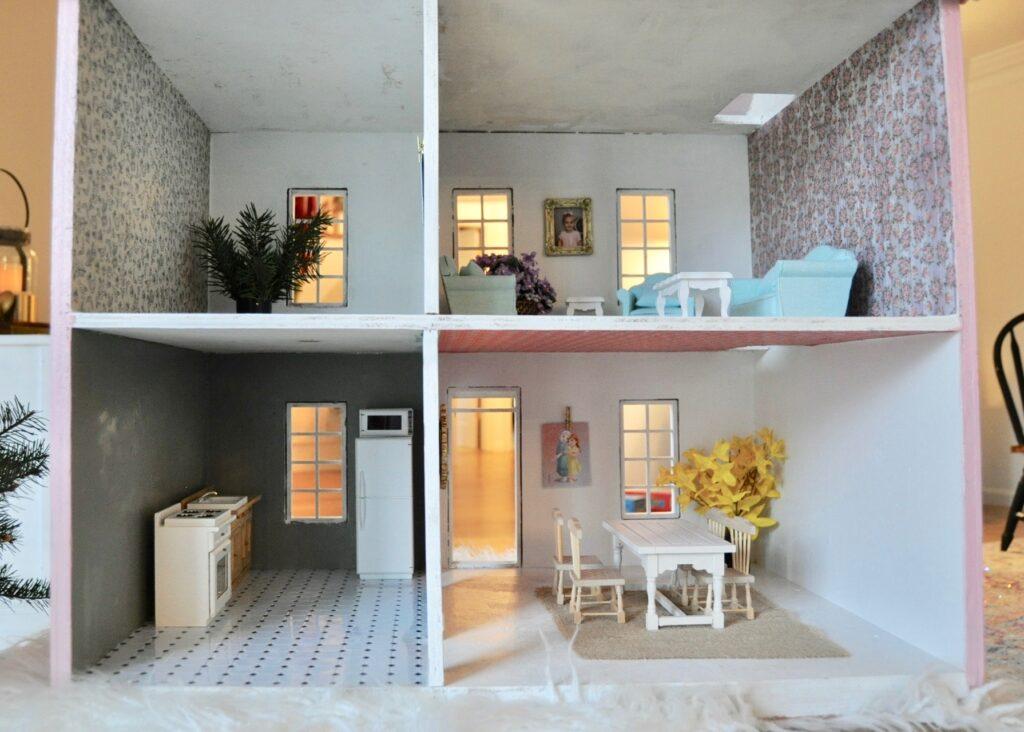 New dollhouse decor purchased from Hobby Lobby & DIY'ed
