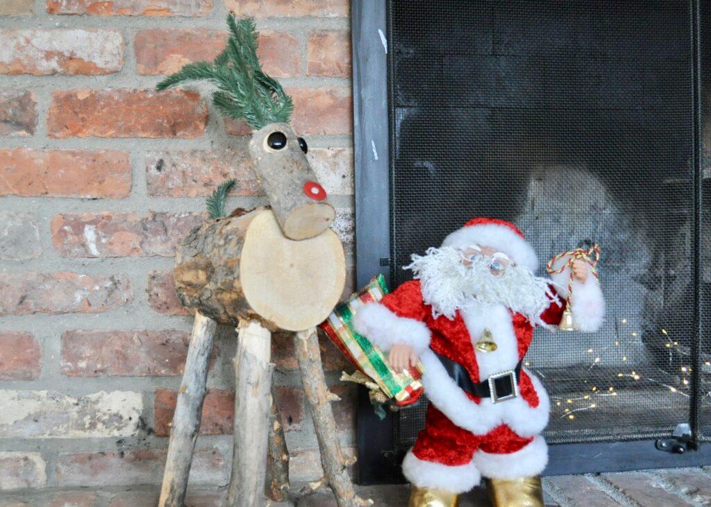 Santa and his reindeer decor