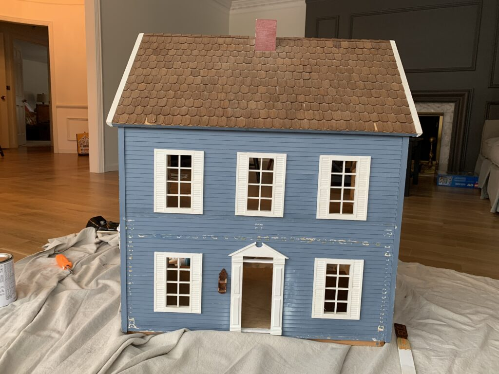 Old and weathered dollhouse I found at a local thrift store