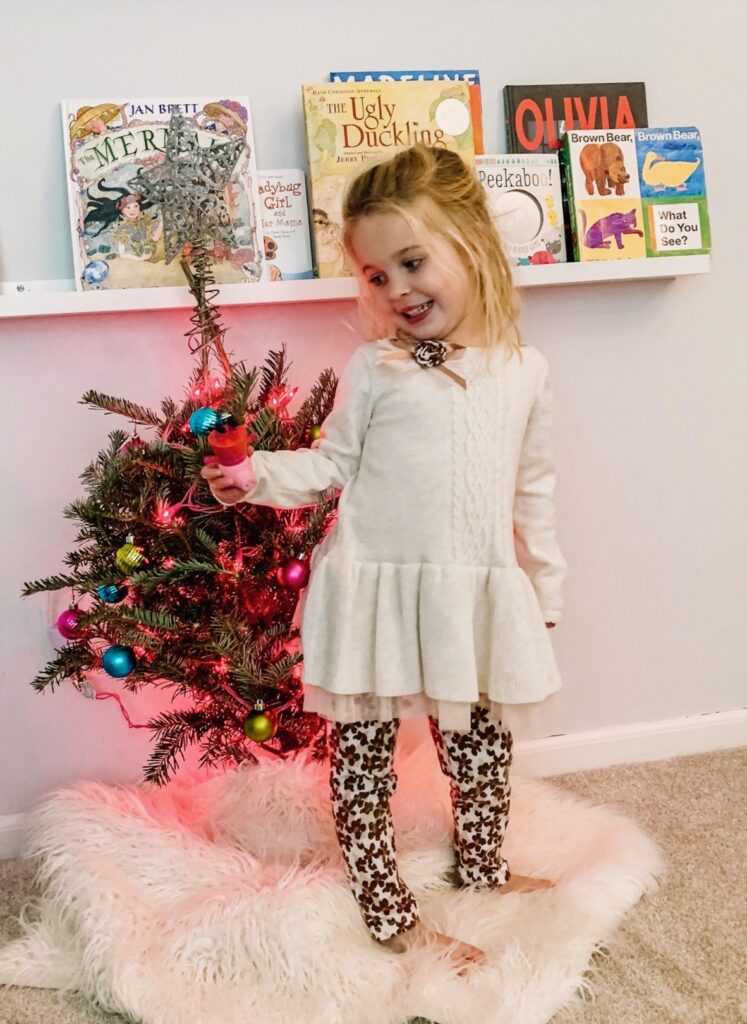 Holiday decor for a little girl