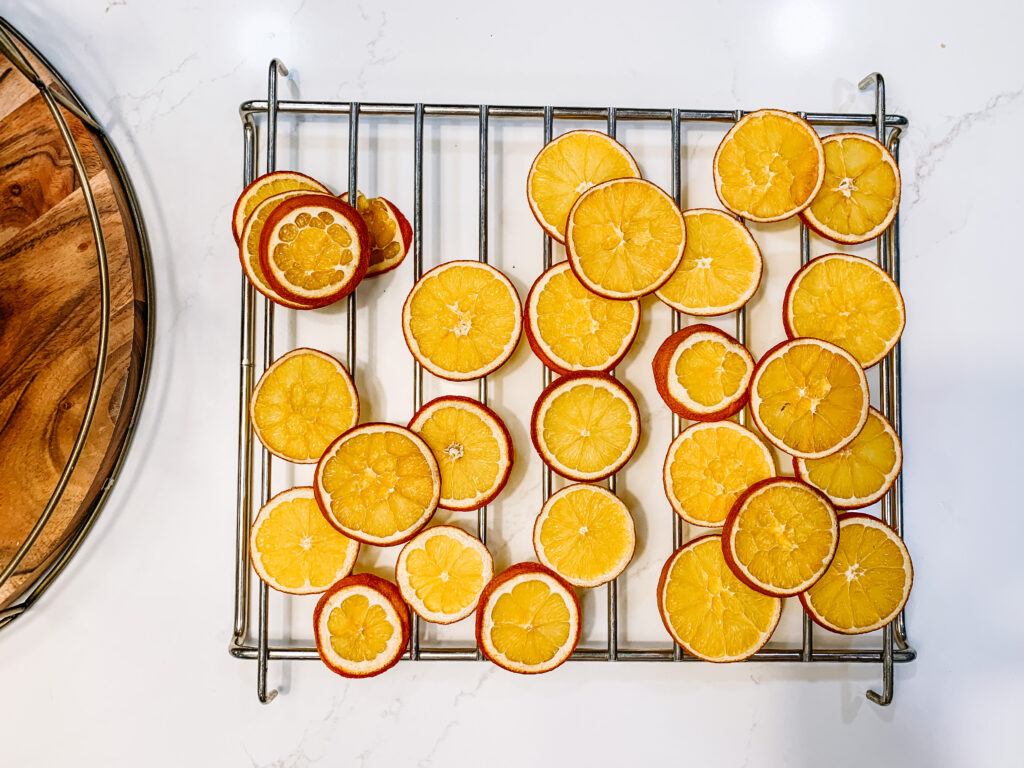 Decorating for the holidays with dried orange slices
