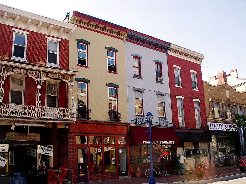 Italianate style was popular with commercial buildings and can be found frequently in historic downtowns