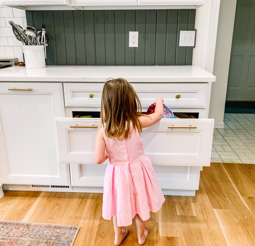 Create a kids drawer to encourage responsibility with your children
