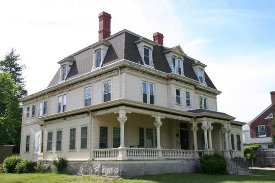 Mansard style Victorian home
