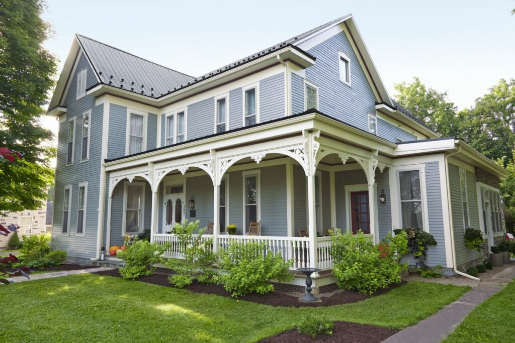 Folk Victorian style home in the Midwest