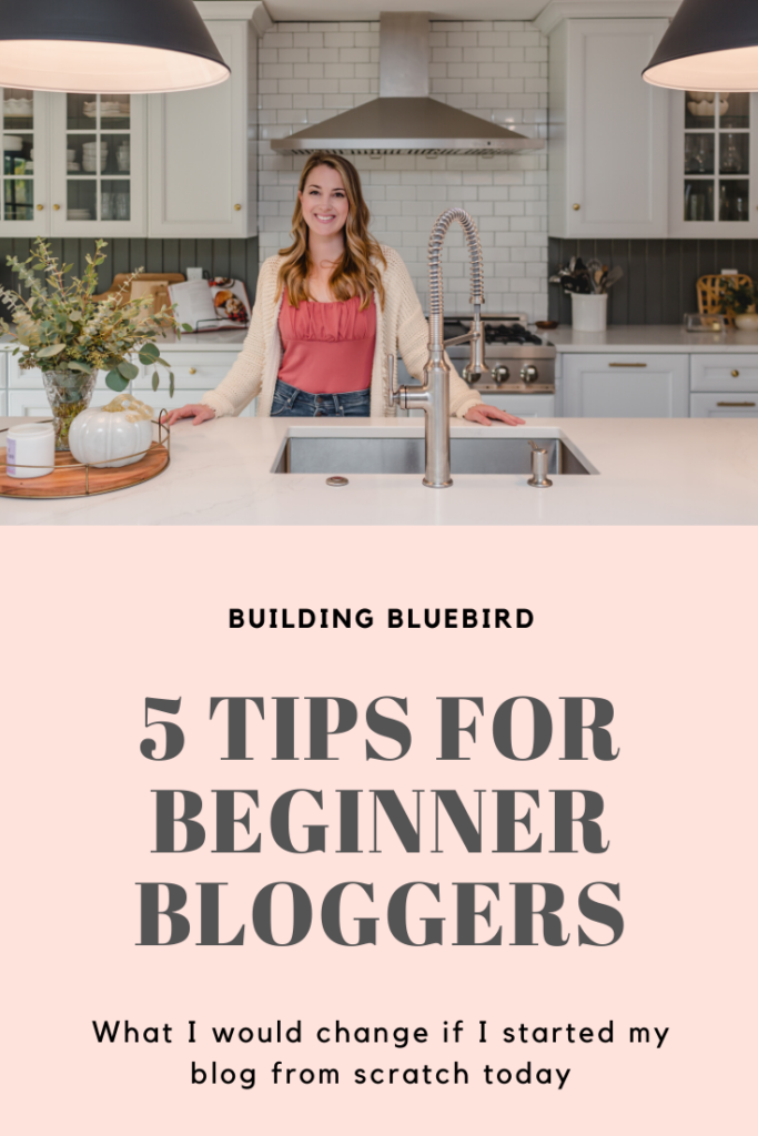 5 Tips for Beginner Bloggers to Take When Starting Their Blog | Building Bluebird #bloggingbasics #beginnerbloggers #blog