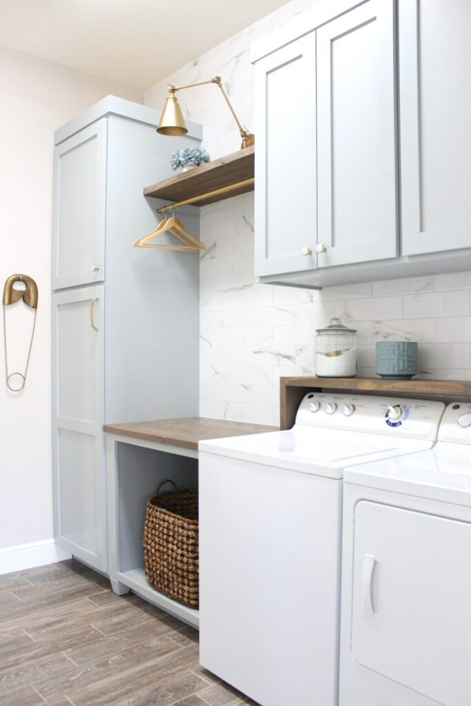 Frills and Drills laundry room DIY