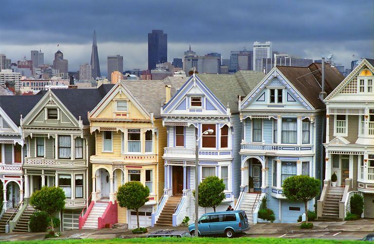 Painted Ladies - The most well known Victorian Queen Ann style  homes