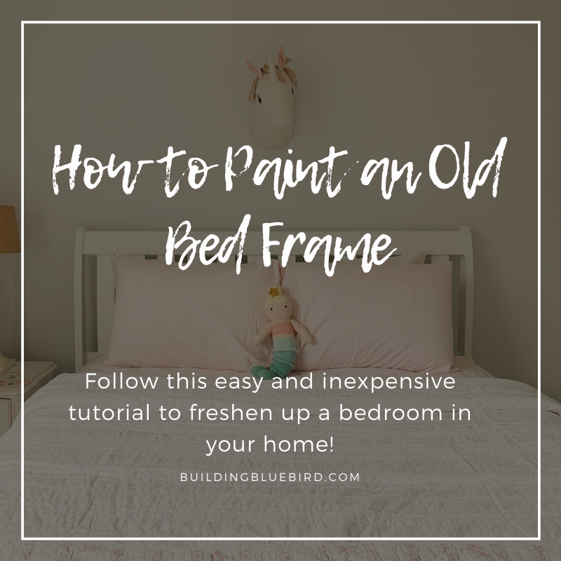 How to paint an old bed frame