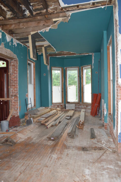 Original front room of the Bosler House before interior renovations