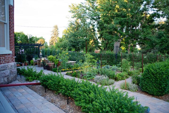 Vegetable garden at the Bosler House in Denver