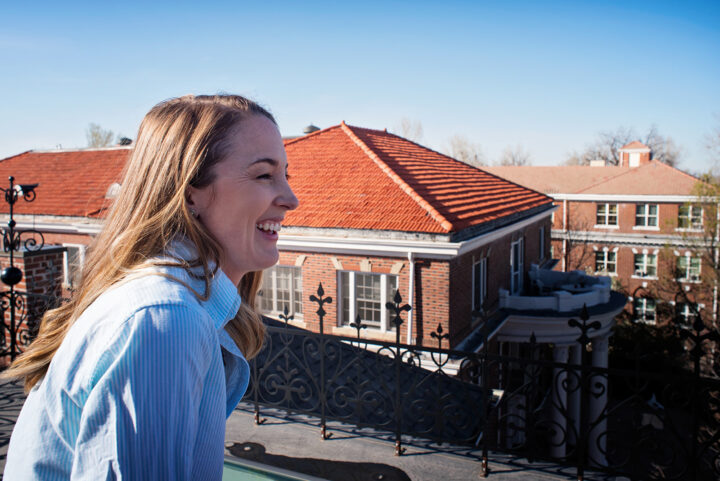 The rooftop of the Bosler House