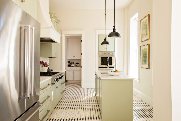 Bosler House kitchen with traditional and functional design