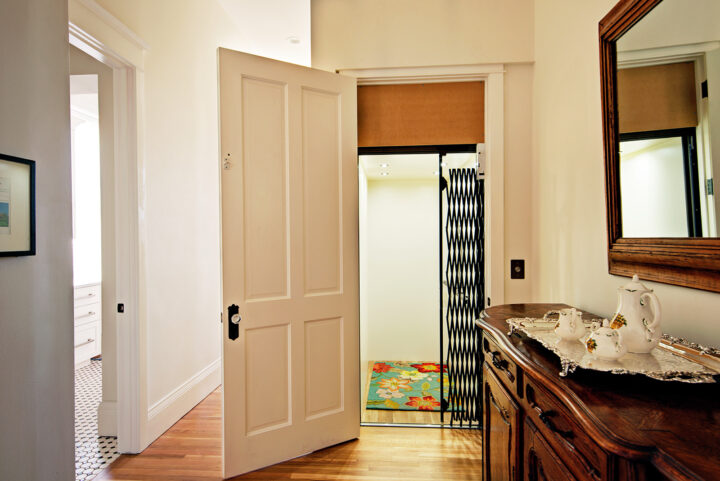 Personal elevator installed in the historic Denver home