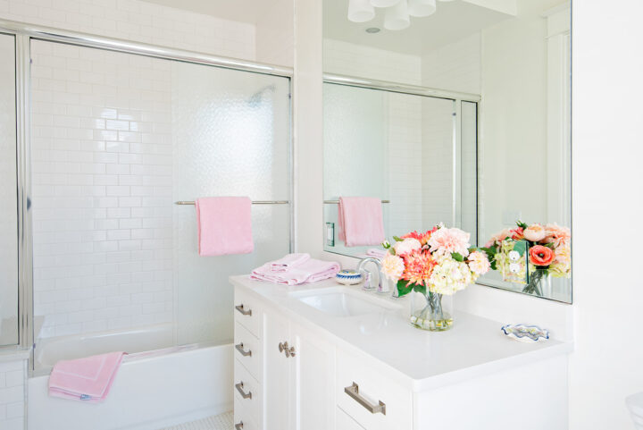 Beautifully renovated bathroom in the historic Denver home