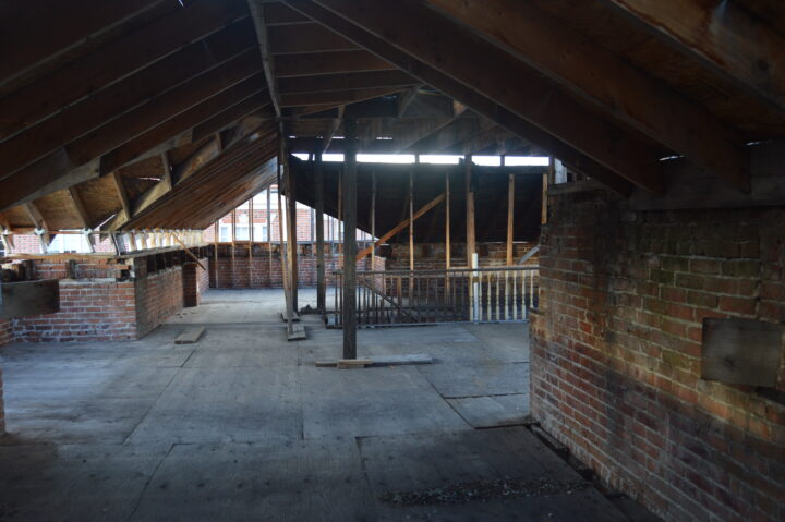 The third floor of the Bosler House be renovations began in 2017