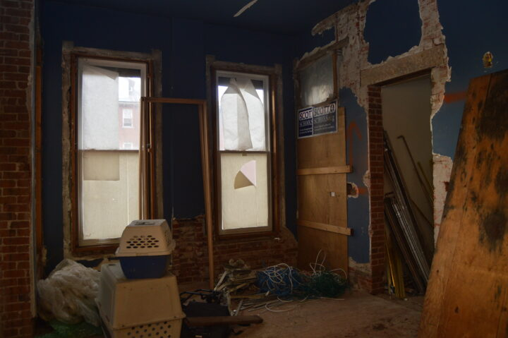 Dining room before the interior renovation at the Bosler House