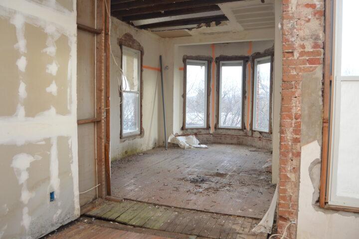The Bosler House before the interior renovation began