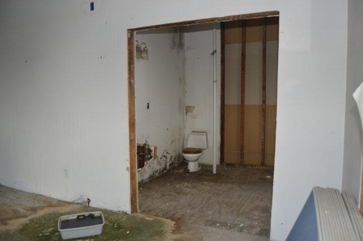 Master bathroom before the interior renovation began