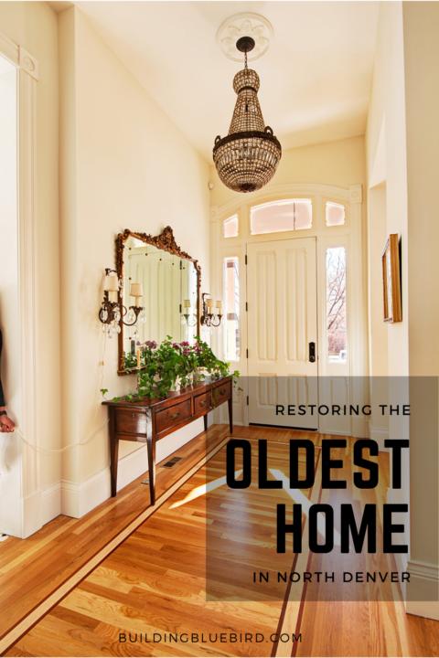 Interior renovations in the oldest home in North Denver #historicpreservation #boslerhouse #denver