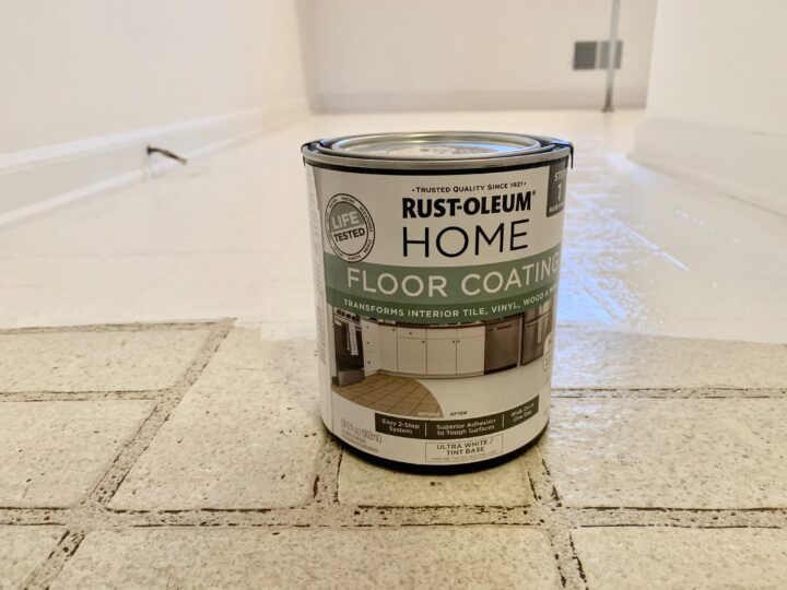 How to paint a checkered pattern on your floor using Rustoleum rock solid