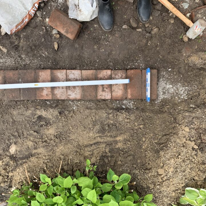 Tutorial for how to install a brick border