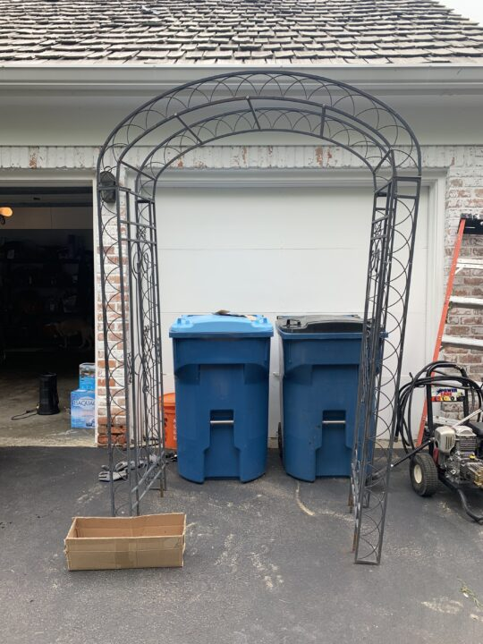 Iron arbor found on the curb