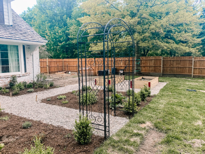 English garden arbor
