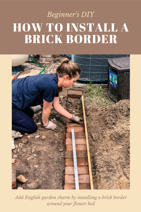 Beginner's DIY - How to install a brick border around your flower bed | Building Bluebird #tutorial #englishgarden #landscaping