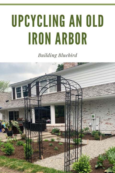 How to fix up an old iron arbor to add that English garden charm to your yard | Building Bluebird #upcycle #affordablediy