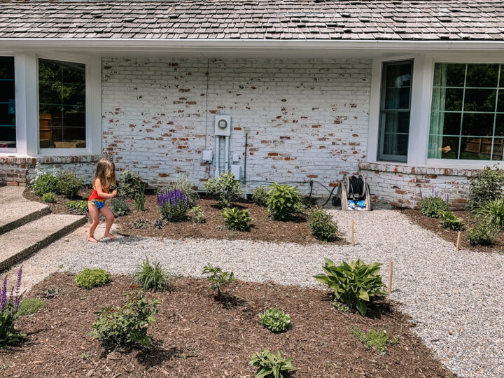 Update your electrical meter with spray paint and tall perennials #diy