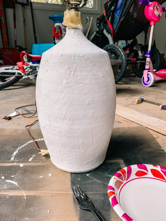 Plaster lamp tutorial