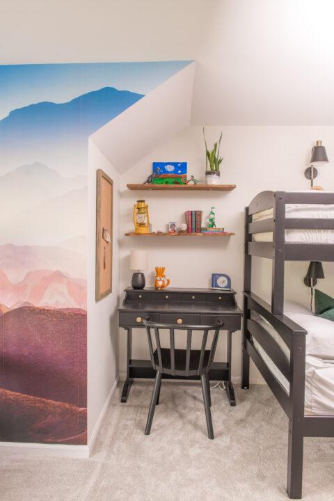 Homework station in my boys bedroom | Building Bluebird